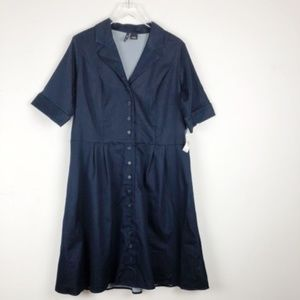 New Direction Button Down Dress Size 14W